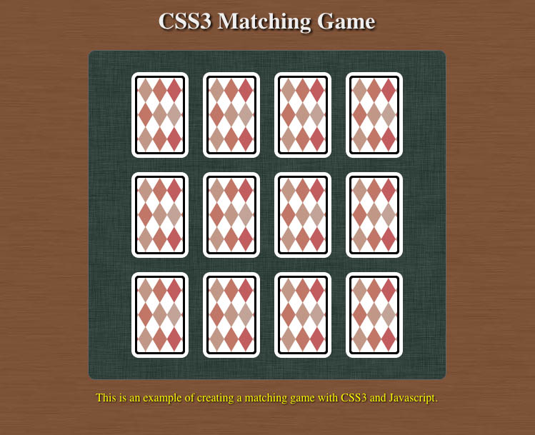 Canvas Matching game